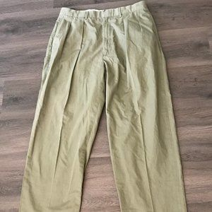 Polo by Ralph Lauren Green Pleated Dress Pants